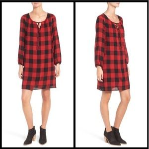 Madewell buffalo checker tunic dress